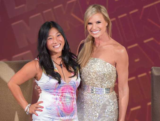 Mikkayla Mossop with host Sonia Kruger