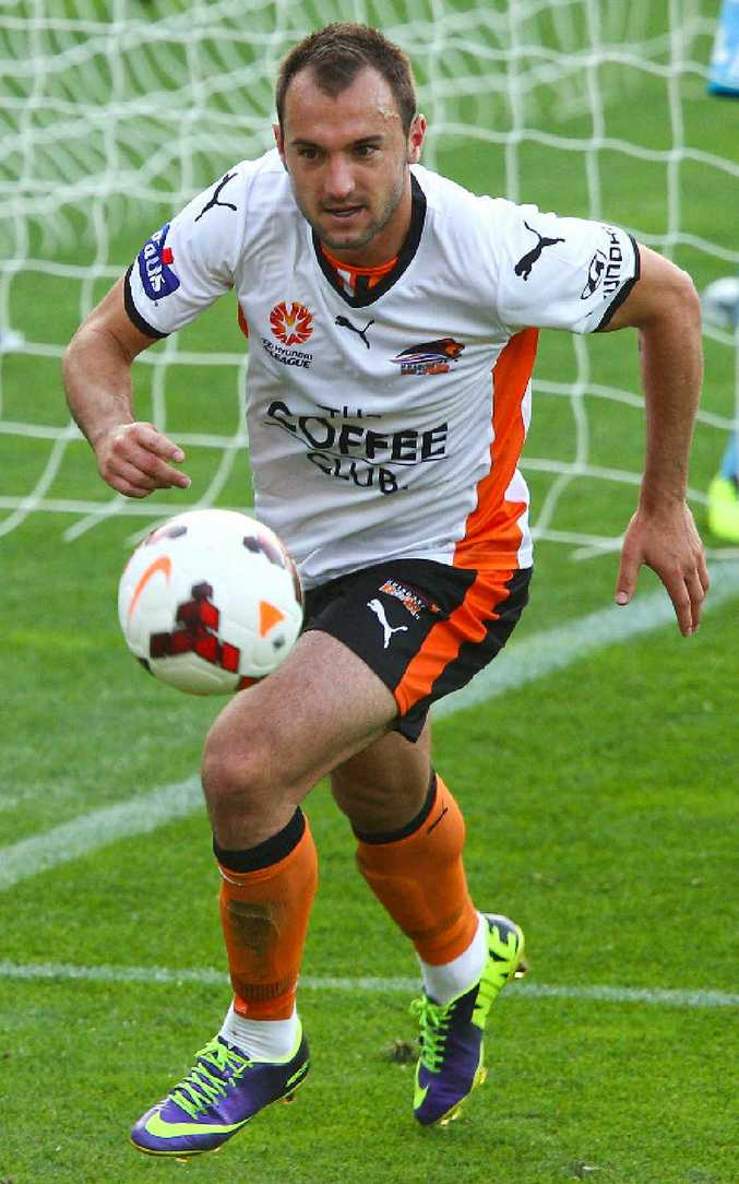 IVAN Franjic - pictured during his time at the Brisbane Roar - is thrilled to be back in the A-League after a tough stint playing in Russia. Scott Powick - SMP Images.