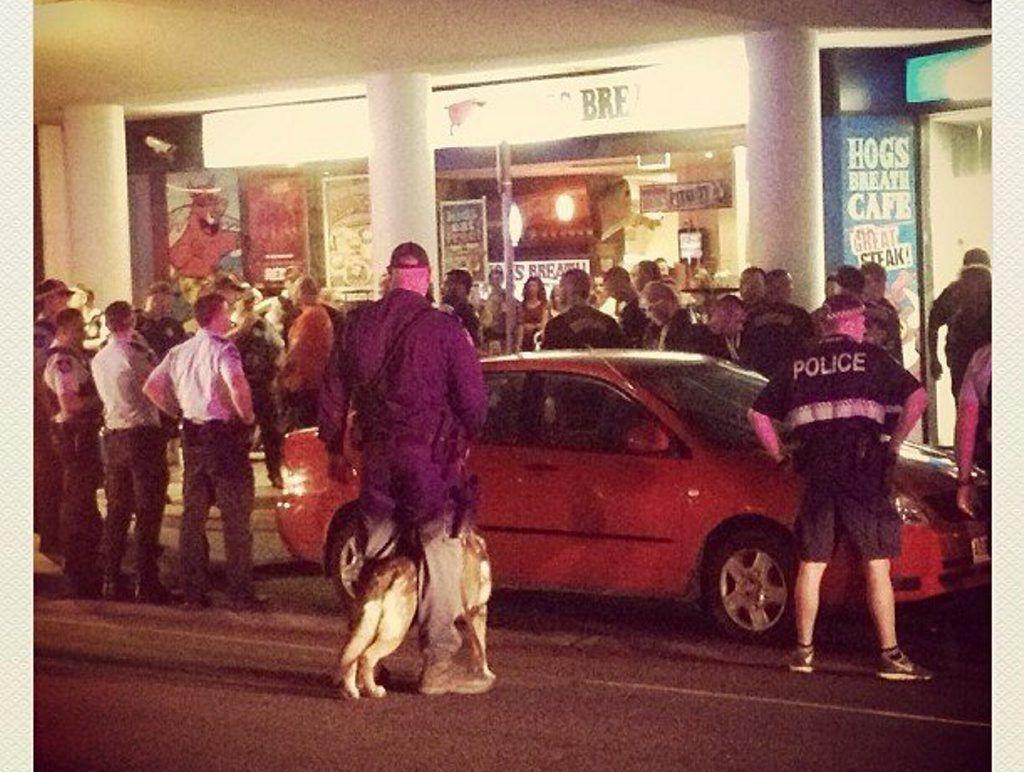 Bandidos bikies stormed a Broadbeach restaurant for two Finks associates. FILE
