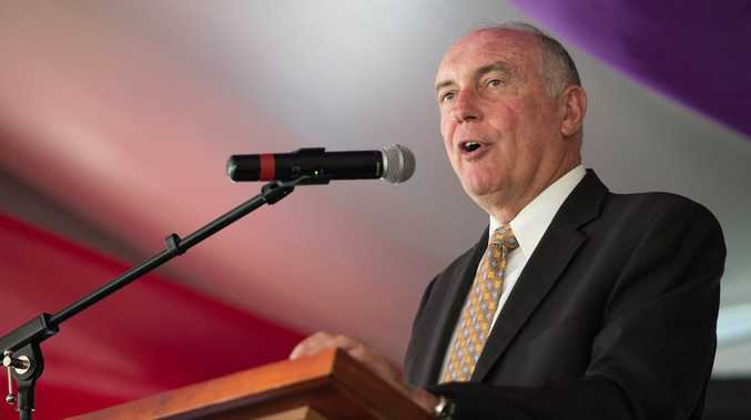Deputy Prime Minister Warren Truss talks at Segra conference at Pacific bay resort.