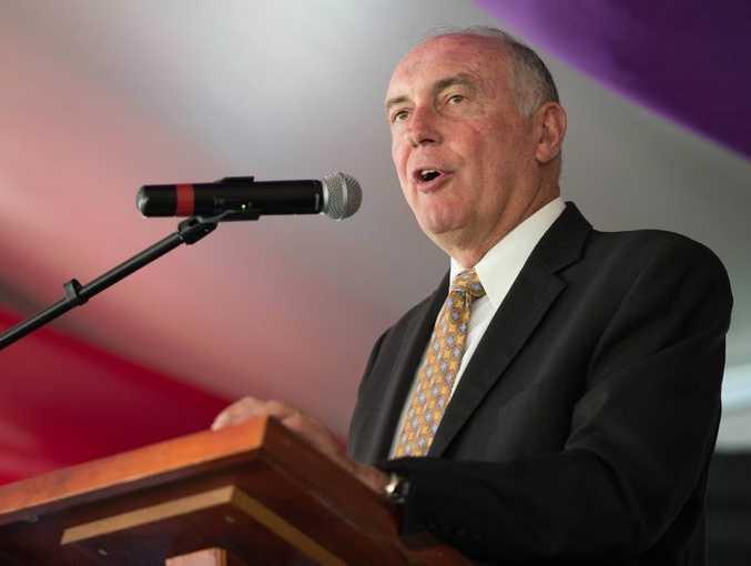 Deputy Prime Minister Warren Truss talks at Segra conference at Pacific bay resort.