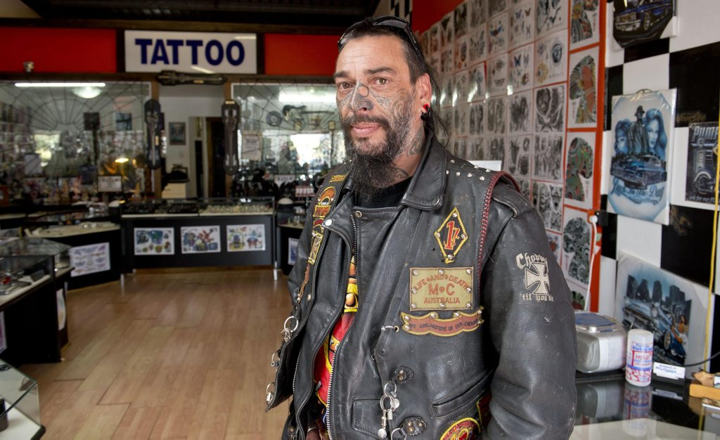 President of the Toowoomba chapter of Life and Death Motorcycle Club Tony