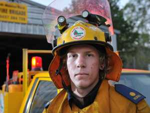 Mt Maurice fire fighter Ashley Geddes had a close call fighting a Benaraby blaze.