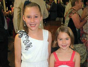 At Paradise Lagoons are Rockhampton sisters Lily, 11, and Emma Lovegrove, 7.