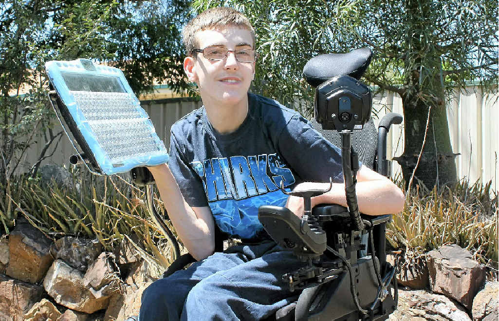 Zac Sorenson finds life a little easier with his new ECO2 speech generating device.