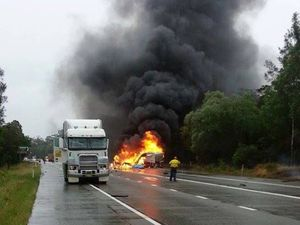 Iluka Road Truck Fire