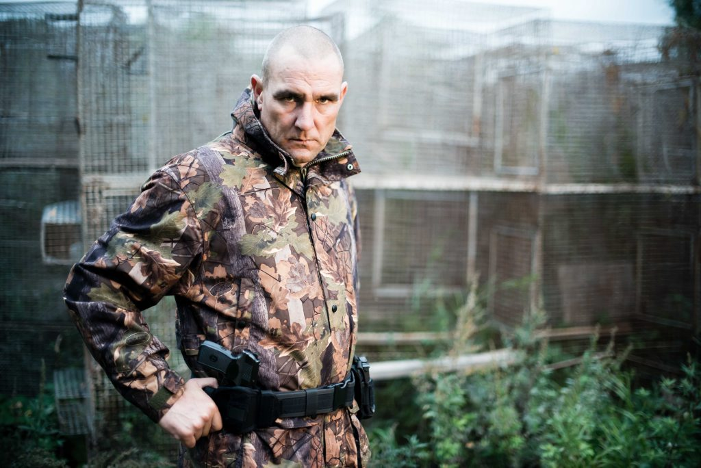 Vinnie Jones in a scene from the TV series Vinnie Jones: Russia's Toughest.