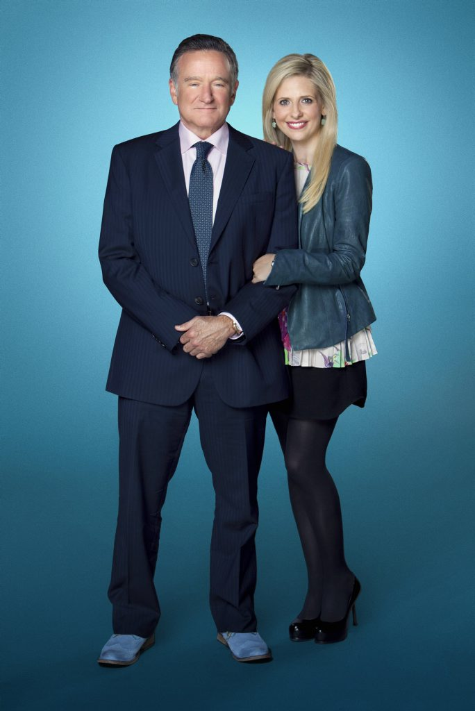 Robin Williams and Sarah Michelle Gellar star in the TV series The Crazy Ones.