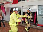 CBD FIRE SCARE: Emergency services attend the scene of a suspected fire at Priceline in the Bundaberg CBD. Photo: Max Fleet / NewsMail