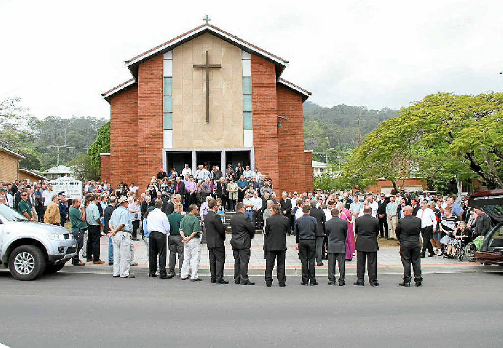 FAMILY AND FRIENDS: Hundreds celebrate the life of Forestry Corporation worker John Creighton.