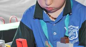 ABOVE: Ash Daniel-Williams, 7, of Lennox head participating in the Lego competition at the show.
