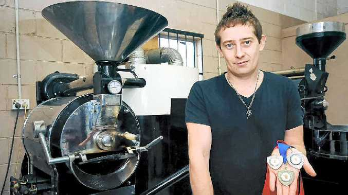 YOU BEAUTY: Nat Byron of Nat's Coffee in Alstonville has taken out the gold medal in the organic class at the annual Golden Bean Awards. He's also claimed two silver and a bronze.