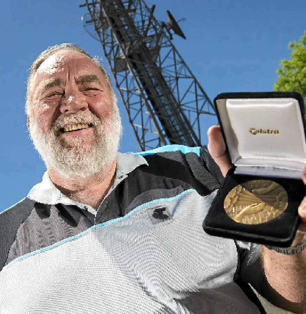 Doug Savage is celebrating 43 years with Telstra.