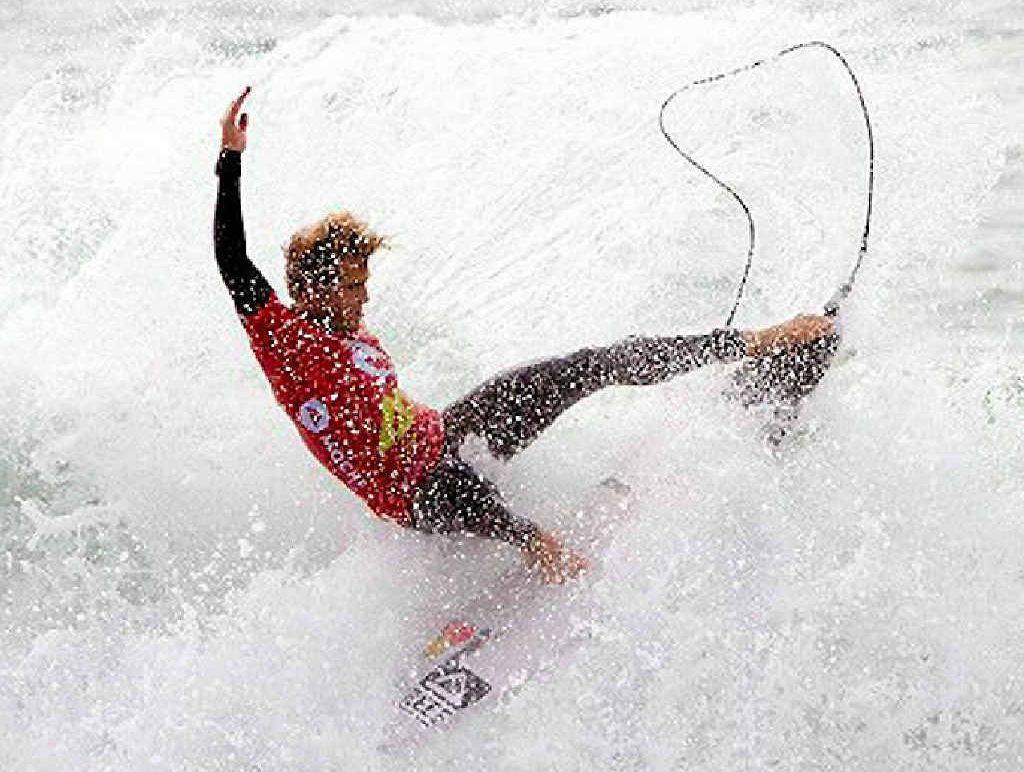 AT LAST: Aussie Kai Otton won his first world pro tour event in Peniche, Portugal this week.