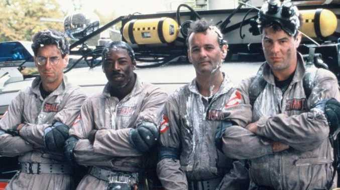 A promotional shot from classic 80s film Ghostbusters.