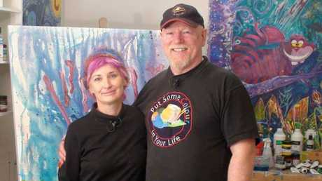 Jen Denise and Put Some Colour in Your Life host Graeme Stevenson.