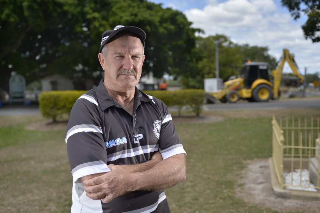 Miriam Vale Lions Club president Greg Realf is frustrated with Gladstone Regional Council and its plans for the town.