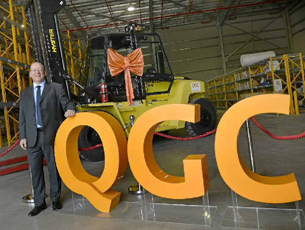 QGC operations director Walter Simpson shows off the new QGC Supply Base in Gladstone.