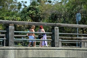 Concerned residents in Tweed Heads are worried about the youth on the bridge.