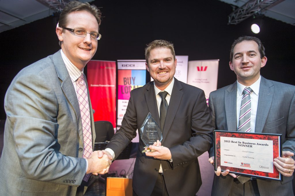 Narbil Training received the 'Best in Service' award at the 2013 Best in Business Awards.