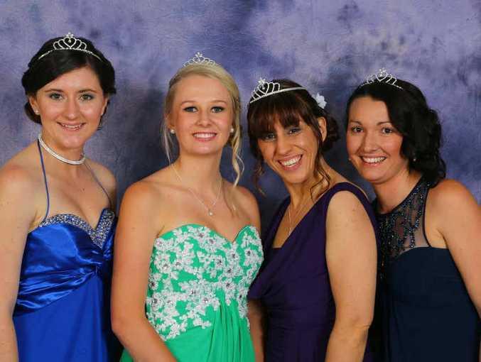 Jacaranda Queen Candidates Chloe Hackett, Cerene Lowe, Christie Paterson and Amy Freeman. Photo: Grafton Fast Photos