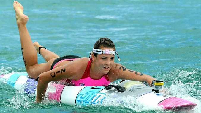 Noosa's Jordan Mercer was pleased with her improved swim leg yesterday.