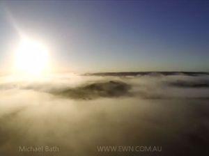 Sun rises over a sea of fog at Lismore