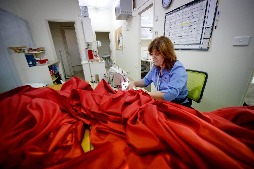 I Sew owner Suzan Stewart working on a large job. Photo Allan Reinikka / The Morning Bulletin