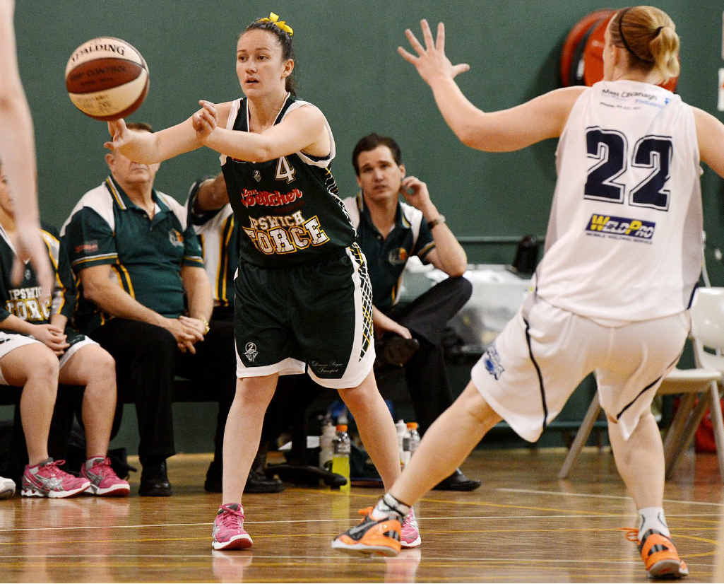 FORWARD MOVE: Ipswich Force basketballer Courtney Taylor is hoping to gain a national league start with Logan Thunder.