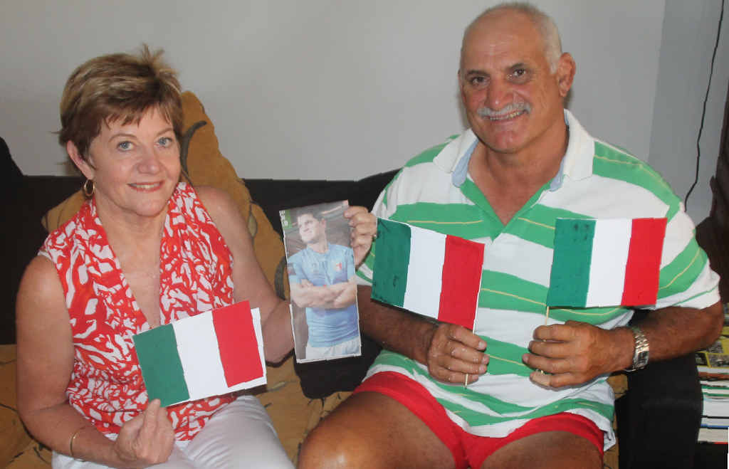 Proserpine couple Ann and Luchie Gardel are off to England on Thursday to watch their son Sam Gardel play for the Italian national team in this year's Rugby League World Cup.