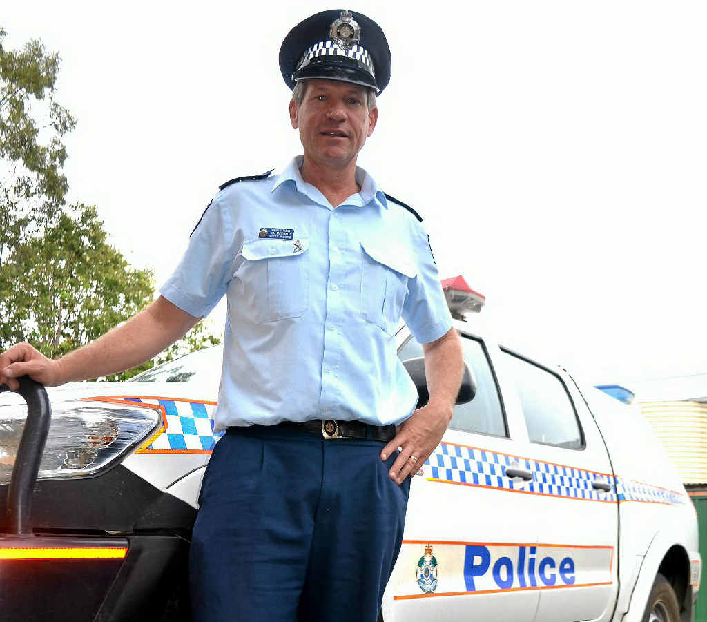 GREAT WORK: Laidley Police Officer in Charge Senior Sergeant Jim McDonald, recognised for 20 years of service to Crime Stoppers.