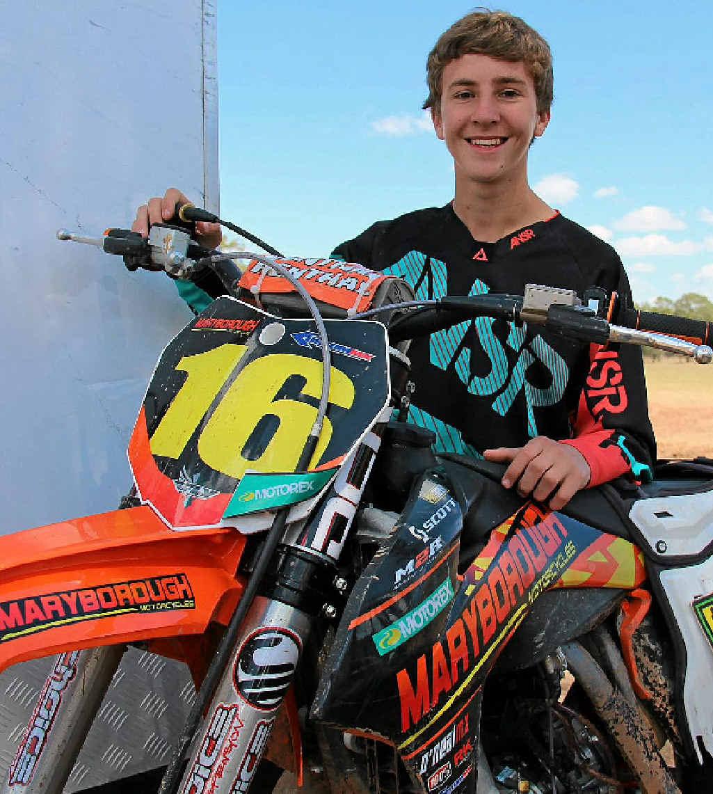 SUPER TALENTED: Kaleb Barham cannot wait for the Queensland Supercross event at Leyburn.