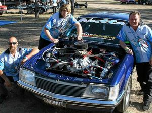 Jodie's burning rubber fills the air at Dragfest
