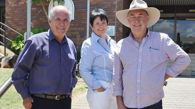 Cr Bill Ludwig, Kay Becker and Brian Fisher will campaign to be elected as Mayor for the new Livingstone Shire Council. Photo Trish Bowman / Capricorn Coast Mirror