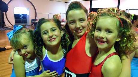Toowoomba Physie and Dance students from left Jayella Cohen, Ariana Barron, Chloe Peters and Aria Stiller take part in a regional competition.