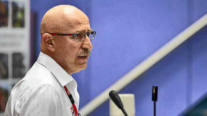 TALK TIME: Boyne Smelter's Joe Rea speaks at the GEA Major Industry Conference.