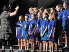 Getting vocal are students from Gladstone West State School.