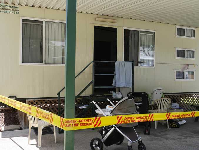 Police today uncovered a meth lab inside a cabin at a Woolgoolga caravan park.