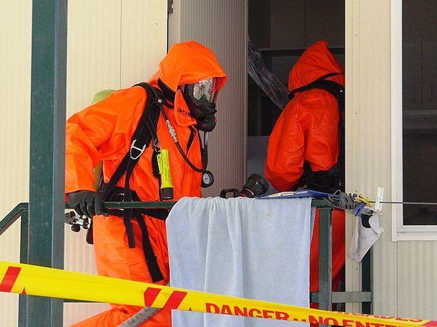 Hazmat crews rendered the cabin safe after police discovered a meth lab inside.
