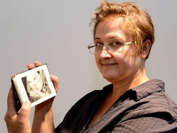 Maaret Sinkko with an artist book - part of 'New Salt' exhibition at CQ TAFE. Photo Sharyn O'Neill / The Morning Bulletin