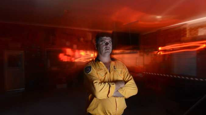 Group 2 Deputy Group Captain Neil Thompson - waiting for the call to go south to help fight bushfires. Photo Adam Hourigan / The Daily Examiner