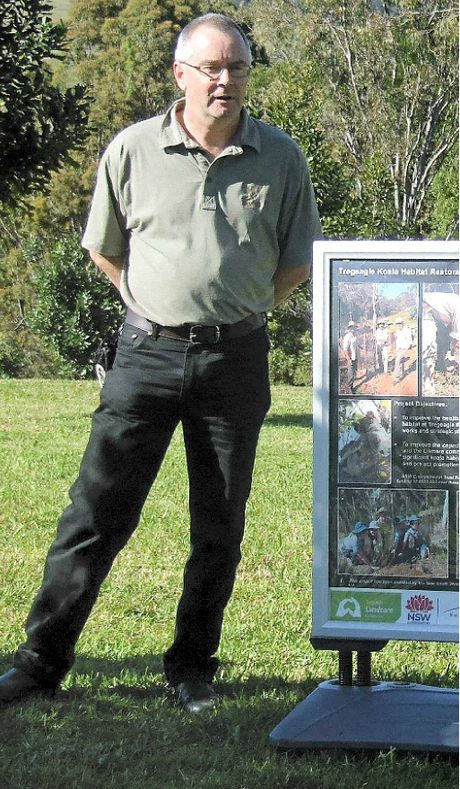 REWARD FOR PASSION: Trees officer Mark Wilson has won the Ziggy Megne Volunteer for the Environment Award.