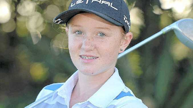 AIMING HIGH: Courtney Johnson has the best junior handicap reduction in Wide Bay over the past 12 months despite picking up a club for the first time at the start of last year.
