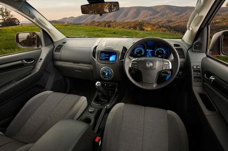 Inside the Holden Colorado LTZ.