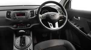 Inside the Kia Sportage Series II.