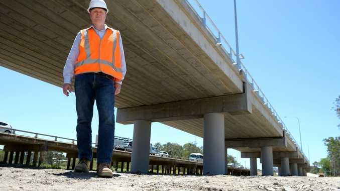 Project manager Gavin Hill at the new Yeppen Bridge. Photo Allan Reinikka / The Morning Bulletin