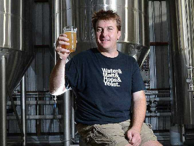 CHEERS: Stone & Wood co-owner Brad Rogers samples some of the brewery's award-winning beer.