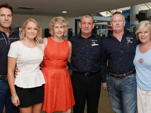 The Wallman family (from left) Peter, Hannah and Lenore Flynn, David Wallman and Rex and Carolyn Wallman at the Mackay airport before leaving to join the Day for Daniel march at the Sunshine Coast today.