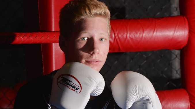 Jack Kettlewell trains ahead of his fight. Photo: John McCutcheon / Sunshine Coast Daily