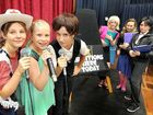 The Sandy Strait State School musical Little Stars will be performed this weekend at the Great Hall in Beach Rd, Pialba. From left: Tahlia Kos, Wynter Gill and Jasmine Tenholder perform for judges Ashleigh Abbott, Taya Mclean and Kristy Wedmaier.